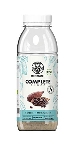 TRINKKOST Complete Choco I Astronautenkost in Bio-Qualität I Sättigende Trinknahrung I Mahlzeitenersatz mit 500 kcal pro Portion I Essen für Zwischendurch I 6 x 120 g