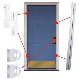 Universal Door Armor Security And Jamb Repair Set (Door Jam Armor compare prices)