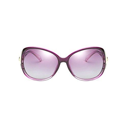 Protección With Frame para de Gafas Moda Sol Polarizadas Purple Purple BVAGSS Mujeres Gafas UV Lens wZ0q44