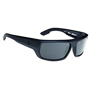 Spy Optic  Bounty 673017243129 Flat Sunglasses, 65 mm (Matte Black/Gray)