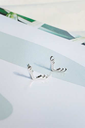 Generic Department of Forestry fresh and lovely elk antlers S925 sterling silver stud earrings vintage earrings Japan and South Korea women girls lady models gift ()