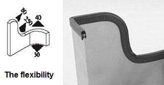 Vertical Bulb Trim Seal Bulb Diameter: 0.5'' Grip range: 0.039'' to 0.14'' | Trunk, boot, lid, hood, hatch rubber (33 Feet) by Seal Rubber (Image #3)