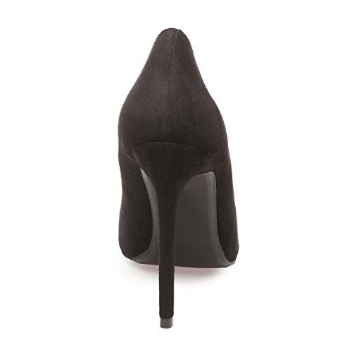 La Modeuse - Zapatos de Vestir de Material Sintético Mujer negro