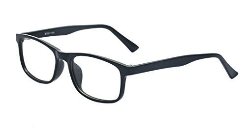 Kelens Classic Rectangular Prescription Eyewear Glasses With Clear Lens - Glasses Rectangle Black