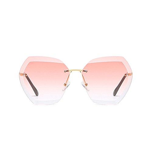 Elegante De C4 Femme Gafas C6 Pink Light Azul Mujer De Gafas Lunetas Reborde De Sin Oro Óptica Lady Sol Gradient Sol TIANLIANG04 ZS8nBx