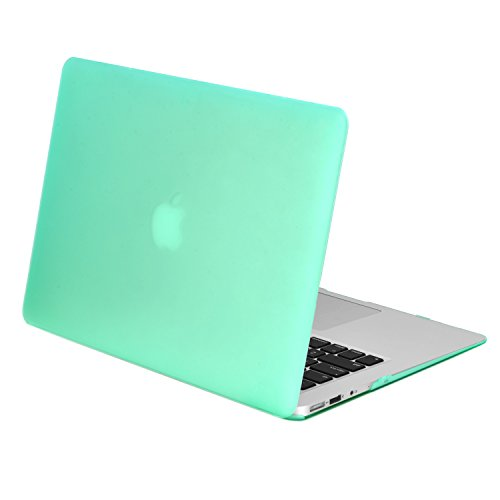 TopCase Rubberized Hard Case Cover for Macbook Air 11 (A1370 and A1465) with TopCase Mouse Pad (Green)