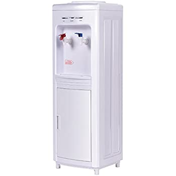 Giantex Top Loading Water Cooler Dispenser 5 Gallon Normal Temperature Water And Hot Bottle Load Electric
