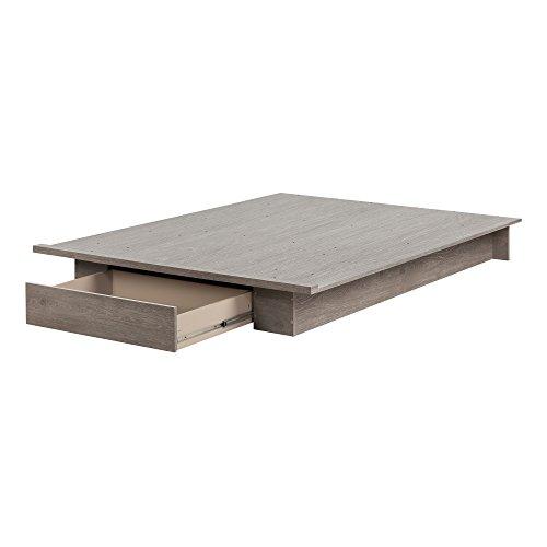 South Shore 11288 Holland Platform Bed (54/60''), Full/Queen, Sand Oak