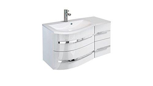 ORISTO Waschplatz »Opal«, Ablage rechts weiß, weiß
