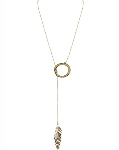 Humble Chic Floating Feather Necklace