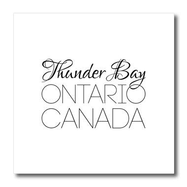 3dRose Alexis Design - Canadian Cities - Thunder Bay Ontario, Canada. Chic, Unique Patriotic Home Town Gift - 10x10 Iron on Heat Transfer for White Material (ht_304853_3)