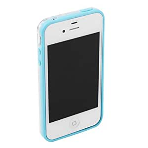 SJT Bumper Frame Case for iPhone 4 and 4S(Blue)