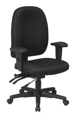 Office Star Contour Molded Fabric Seat and High Back Ergonomic Chair with Seat Slider, Height Adjustment, and Adjustable Padded Arms, - Office Soft Wheel Star