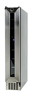 ECOAP WR 007 Equator-Deco 7 Bottles Slim Wine Refrigerator, Stainless-Steel