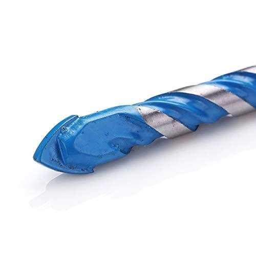 2x8mm//10mm//12mm 10PCS Forets de Ma/çonnerie pour Carrelage Verre Bois Marbre Verre B/éton Brique Carrelage Plastique Foret Triangle Porcelaine M/étalliques Pointe de Carbure de Tungst/ène Bleu 4x6mm