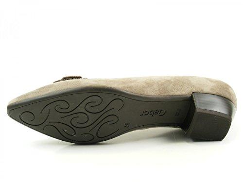 Gabor 55-132 Zapatos de tacón de material cuero mujer Beige