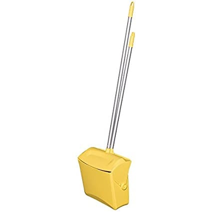 Polypropylene//Polyester//Aluminum Remco 62507 Lobby Dustpan with Broom Orange 7 X 14 Bin 37 Handle