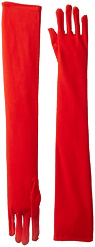 Be Wicked Women's Long Gloves, Red, 57cm