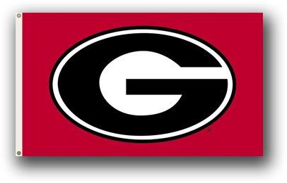 NCAA Georgia Bulldogs 3-by-5 Foot Flag Bulldog Logo with -