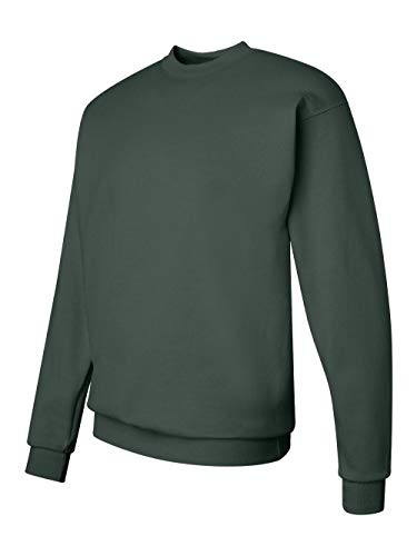 Hanes Men's Ecosmart Fleece Sweatshirt, Deep Forest, Medium