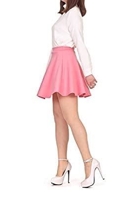 Dani's Choice Cotton Candy Color A line Full Flared Skater Mini Skirt