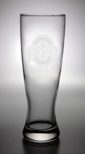 CC Glass Ohio State Buckeyes Deep Etched Pilsner