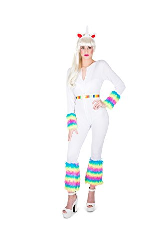 Karnival Women's Enchanted Unicorn Costume Set - Perfect for Halloween, Costume Party Accessory. Trick or Treating (L)