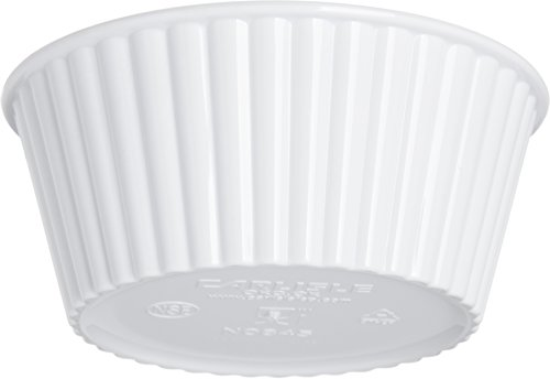 Carlisle 084502 SAN Fluted Ramekin, 4.5-o.z Capacity, 1.50 x 3.50'', White (Case of 48) by Carlisle (Image #4)