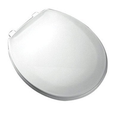 Bemis 800EC 000 Plastic Round Toilet Seat with Easy Clean & Change Hinge, White