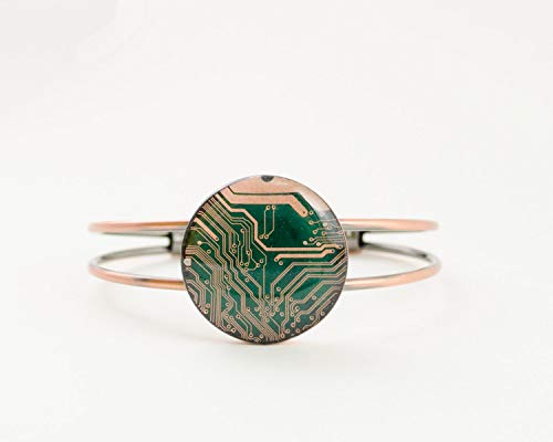 (Recycled Circuit Board Copper Bracelet)