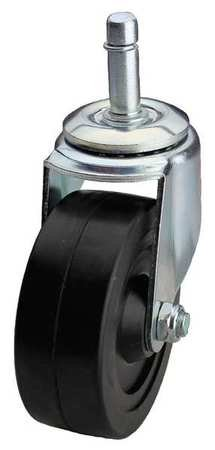 Swivel Stem Caster, Rubber, 5 in., 200 lb.
