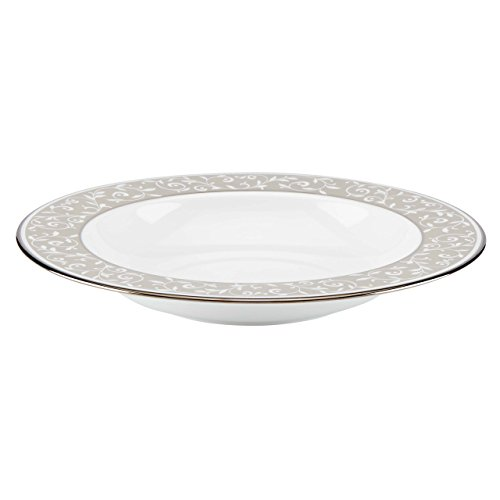 Lenox Opal Innocence Dune Pasta Rim Soup Bowl, White