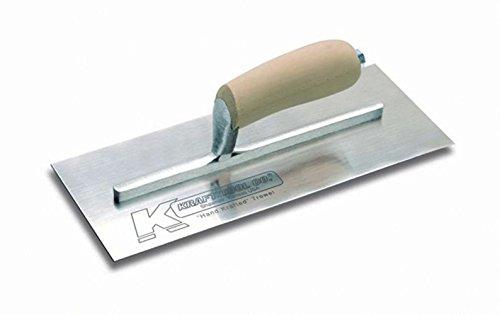 Kraft Tool PL568 Swedish Stainless Steel Plaster Trowel with Wood Handle, 12 x 5-Inch
