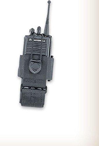 Uncle Mike's Laminated Radio Case, Fitted 3.75in, Swivel Belt Loop, Kodra Black