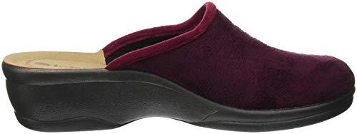 Betulla Prugna Rouge à Blu Chaussons Ouvert 066 In Femme Talon B8F5RqqWw