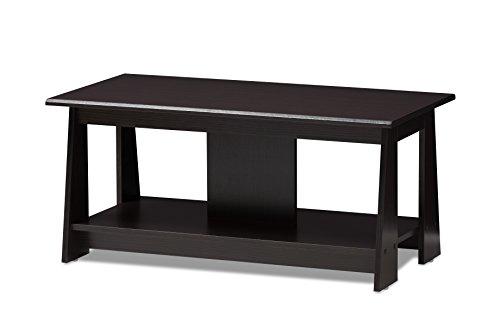 Baxton Studio 146-424-A8290-AMZ Dassel Coffee Table, Wenge Dark Brown