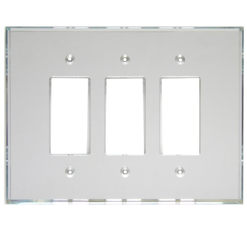 GlassAlike Triple Decora Acrylic Mirror Switch Plate ()