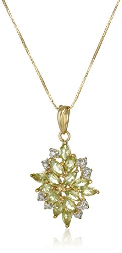 18k-Yellow-Gold-Plated-Sterling-Silver-Gemstone-Drop-Pendant-Necklace-18