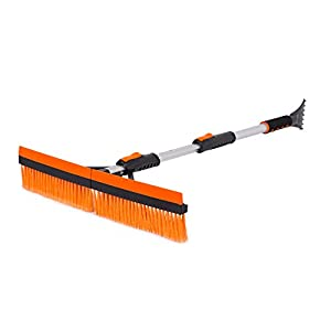 "Snow Moover 46"" Extendable Snow Brush with Squeegee & Ice Scraper 