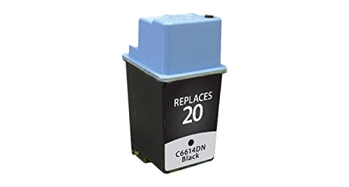 Remanufactured ink Cartridge Replacement for HP 20 C6614DN black ink cartridge ()