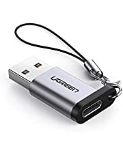 UGREEN USB C to USB 3.0 Adapter USB C Female to USB Male Adapter USB C 3.1 Adapter 5Gbps Compatible with MacBook Pro 2018/2017 iPad Pro 2020/2018 Galaxy Note20 Ultra Laptops Chargers and More
