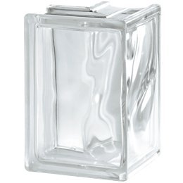 9x Glasbaustein Ecke 90/° Wolke wei/ß 132//132x19x8 cm