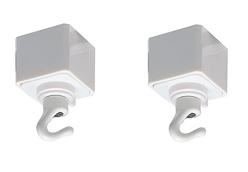 Nora Track Light NT-308W - White - Utility Hook - Single or Dual Circuit - Compatible with Halo Track (2 White Adapters)