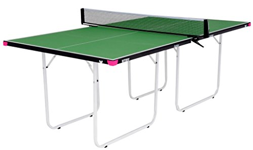 Butterfly Junior Ping Pong Table   3/4 Size Table Tennis Table   Folding Ping Pong Table with Wheels   Larger & Easier to Play Than Mid-Size Table Tennis Tables   3 Year Warranty   Ships Assembled