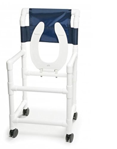 Lumex 89180 PVC Shower Commode Chair, 18''