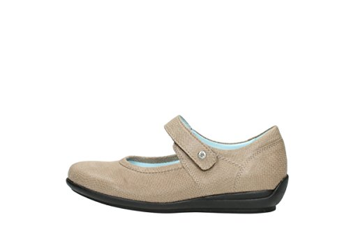 20150 Leather Womens Jewel 3204 Sandals Wolky Leder Taupe BXtqz