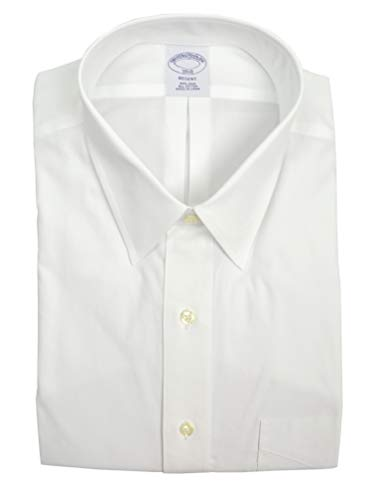 (Brooks Brothers Men's Regent Fit Pocket Non Iron Dress Shirt White (17.5
