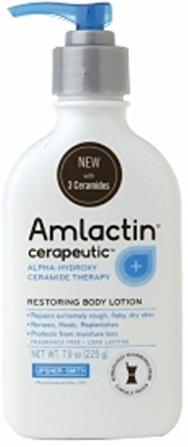 AMLACTIN Cerapeutic Alpha-Hydroxy Ceramide Therapy Restoring Body Lotion, Fragrance Free 7.9 oz by AmLactin