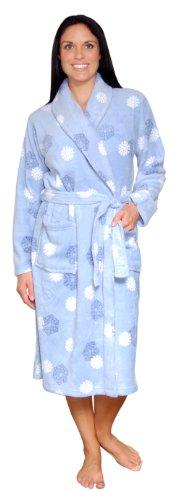 PajamaMania Women's Fleece Robe (Snowflake, Med)