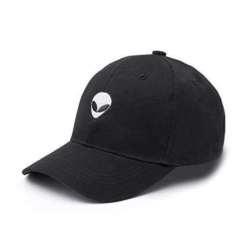 Aliens Cap Outstar Saucer Space E.T UFO Fans Black Fabric Baseball Cap Hip  Hop Hat for 87bcae345e94